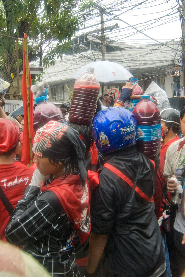 Rain continues to pour in the midst of Red Shirt protest activity