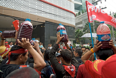 A shot of the protesters during the Red Shirt Protest