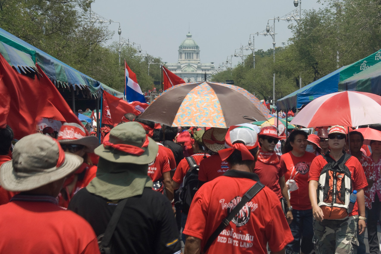 More shot of the crowd during Red Shirt Protest - Thailand