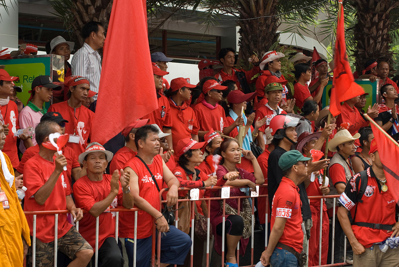 A sea of red during the Red Shirt Protest in Thailand
