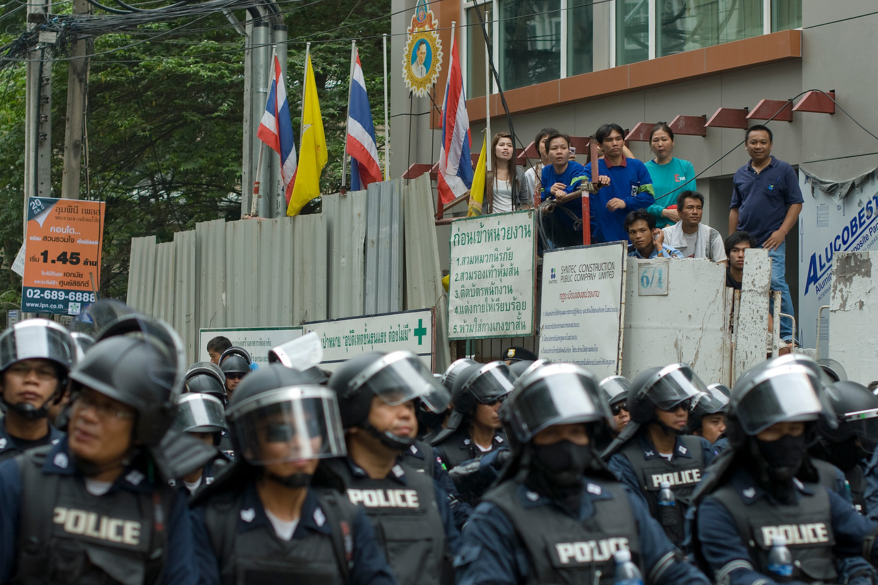 Onlookers at the Red Shirt Protest in Thailand