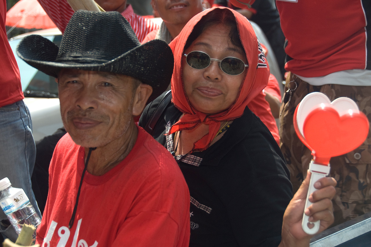 Participants during the Red Shirt Protest in Thailand