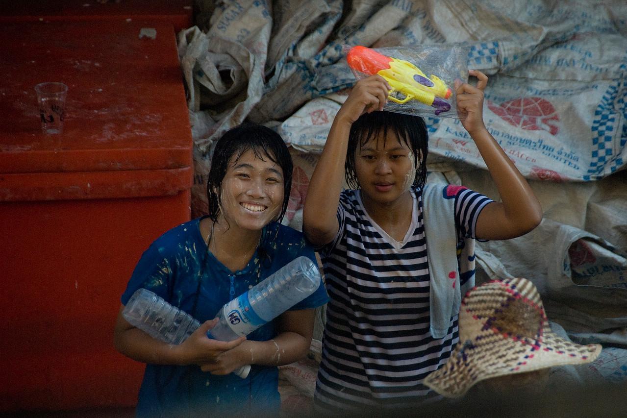 Female locals enjoying the 2010 Songkran Festival