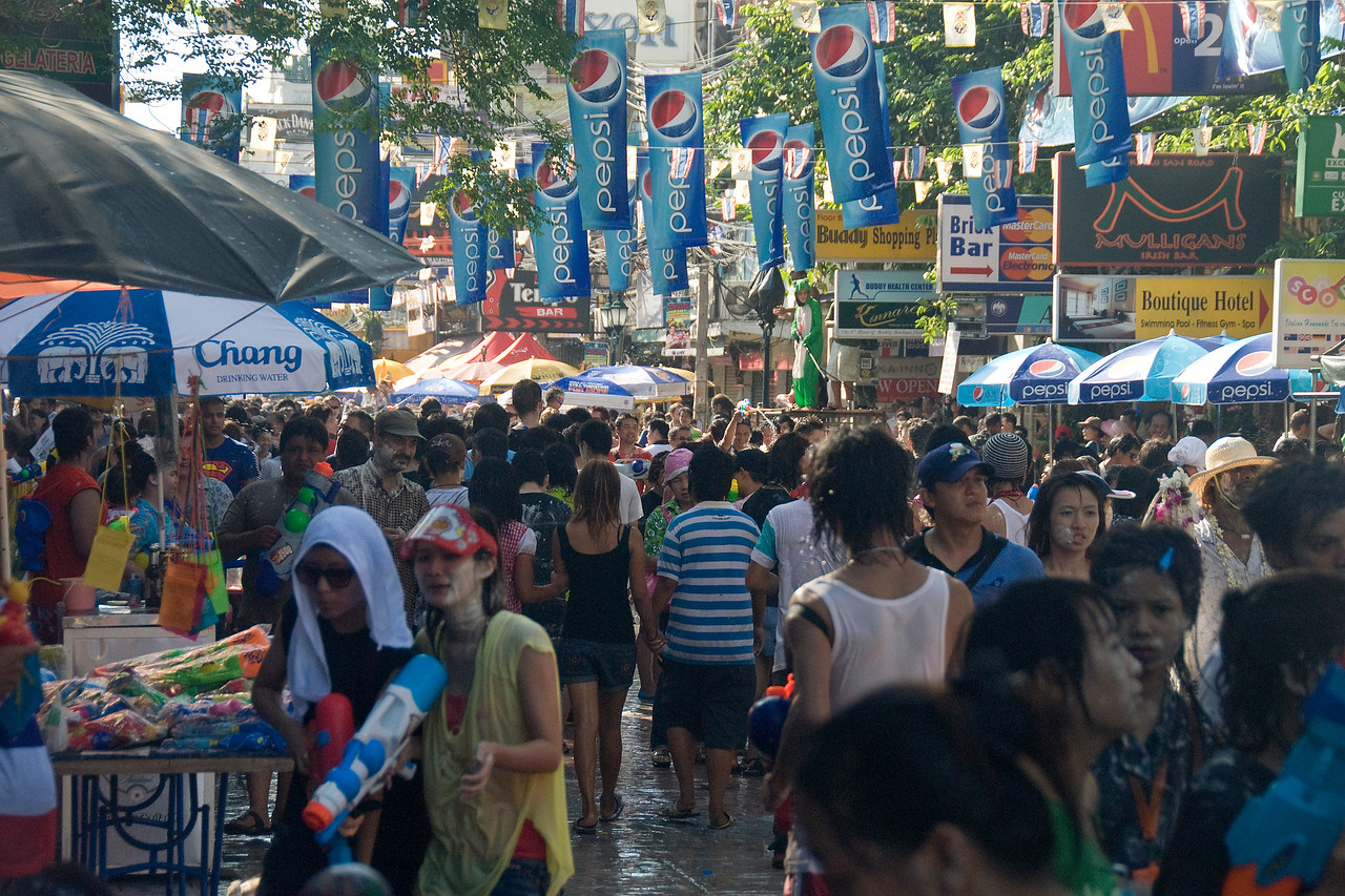 Shot of the crowd during the 2010 Songkran Festival