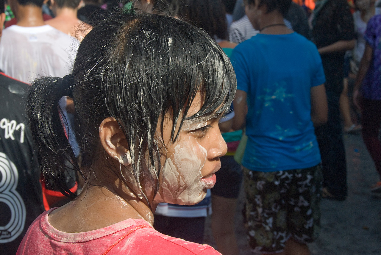 Young female joining the festivities at the 2010 Songkran Festival