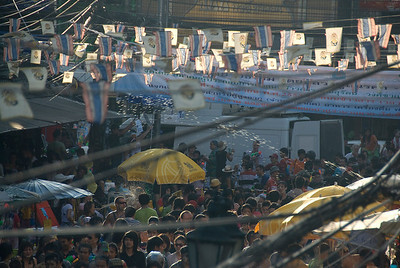 A shot of the festivities during the 2010 Songkran Festival