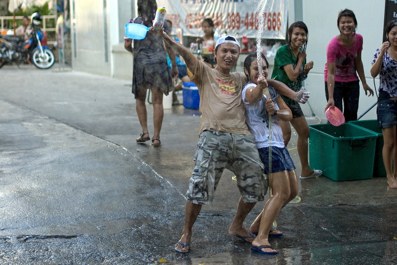 More fun from locals during the 2010 Songkran Festival