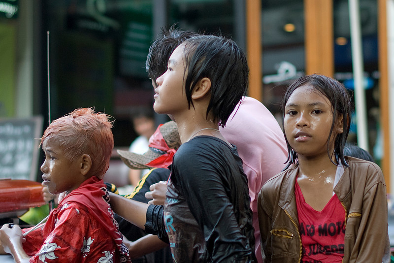 Young kids at the 2010 Songkran Festival celebration