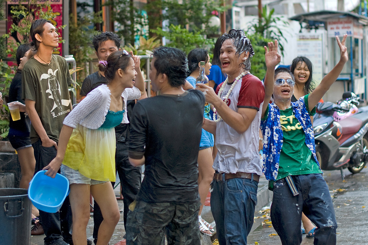 Candid shot of celebration at the 2010 Songkran Festival