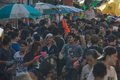 A shot of the crowd in the 2010 Songkran Festival