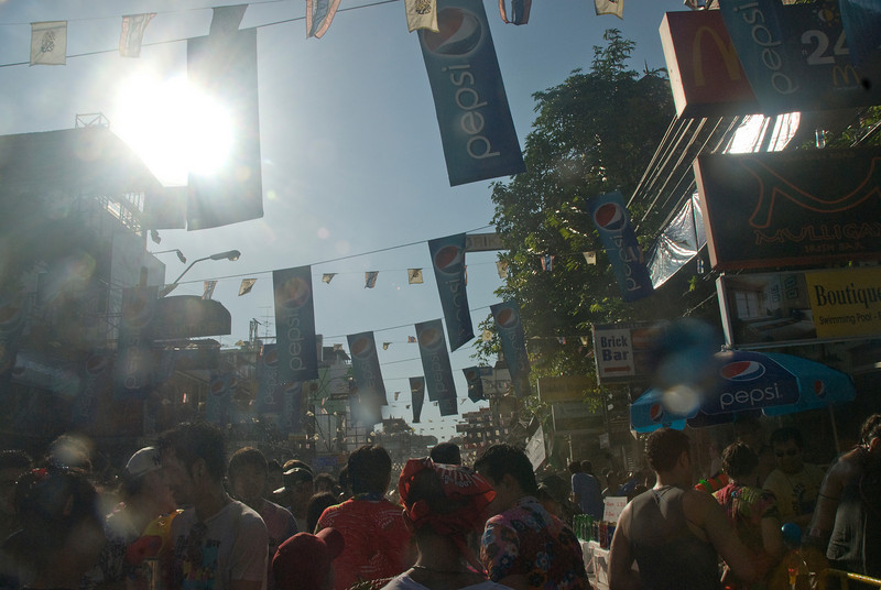 Shot of the sunlight during 2010 Songkran Festival activities