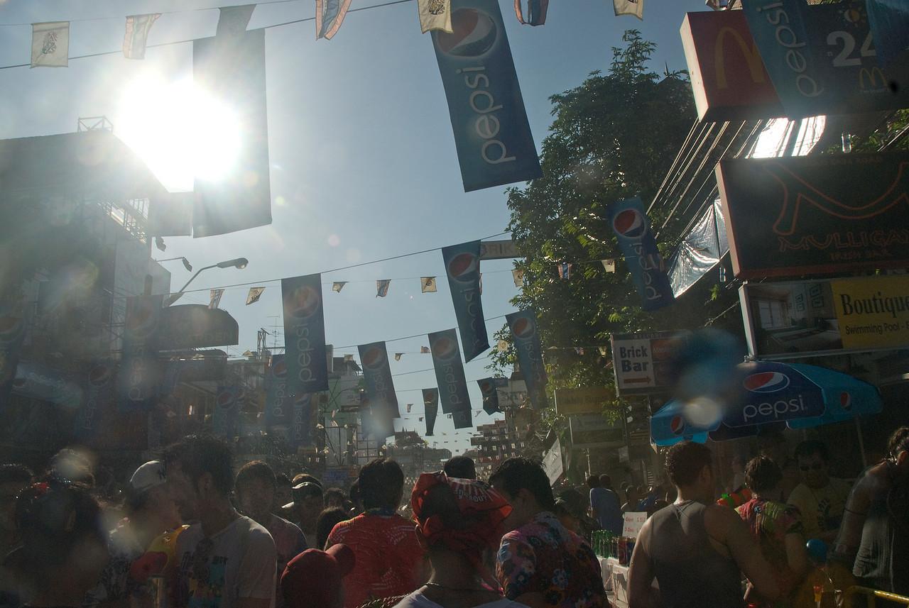 Shot of the sunlight during 2010 Songkran Festival activities