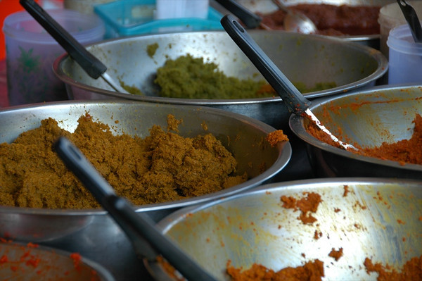 Curry Pastes - Krabi, Thailand