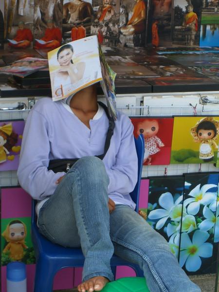 Sleeping Vendor - Ao Nang, Thailand