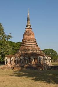Wat Sorasak in Sukhothai, Thailand