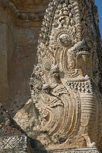 Details of carving in Wat Phra Phai Luang - Sukhothai, Thailand