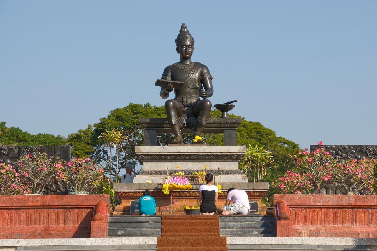 Monument of King Ramkhamhaeng the Great in Sukhothai, Thailand