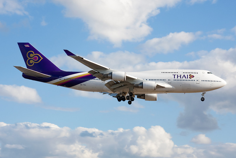 HS-TGL Boeing 747-4D7 c/n 25366 Heathrow/EGLL/LHR 17-07-10