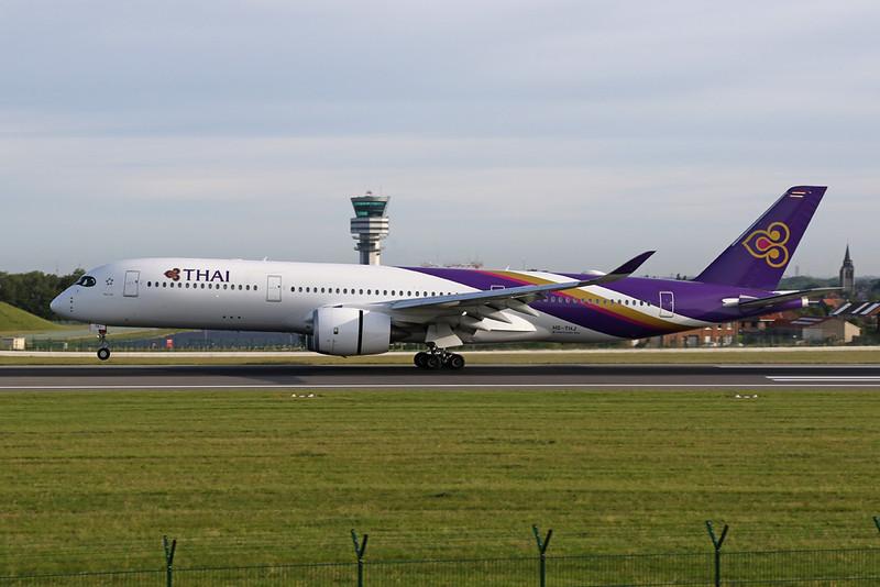 HS-THJ Airbus A350-941 c/n 177 Brussels/EBBR/BRU 09-06-19
