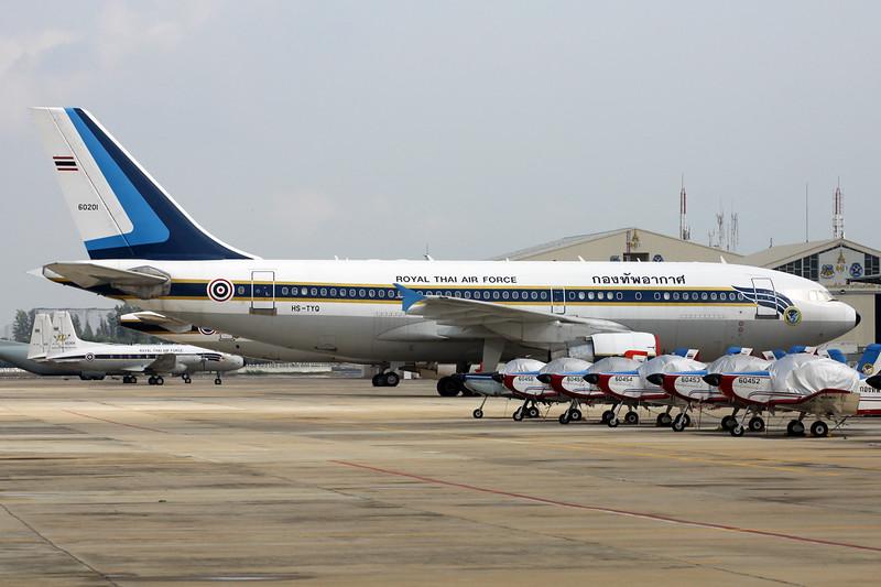 """B.L13-1/34 (60201/HS-TYQ) Airbus A310-324 """"Royal Thai Air Force"""" c/n 591 Bangkok-Don Mueang/VTBD/DMK 09-01-16"""