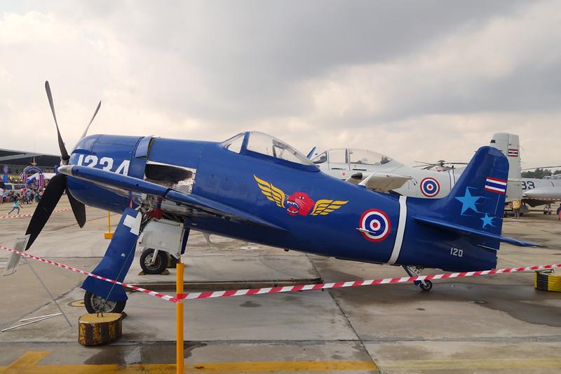 "B.Kh15-18/95 (1234/120) Grumman F8F-1B Bearcat ""Royal Thai Air Force""  c/n D.804 Bangkok-Don Mueang/VTBD/DMK 09-01-16 ""Tango Squadron"""