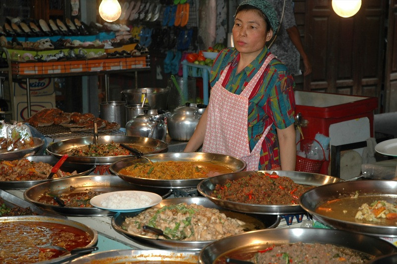Lady Selling Curries - Bangkok, Thailand
