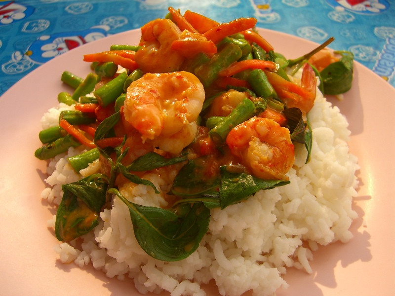 Thai Red Shrimp Curry - Bangkok, Thailand