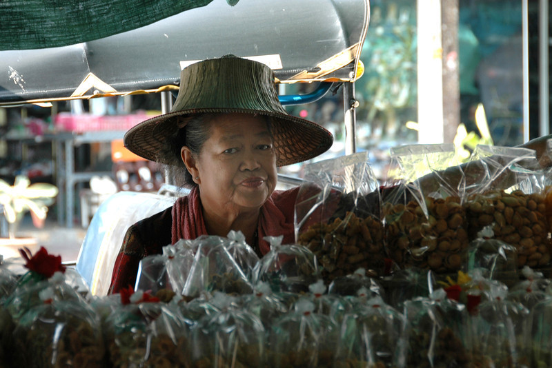 Woman Selling Snacks - Bangkok, Thailand