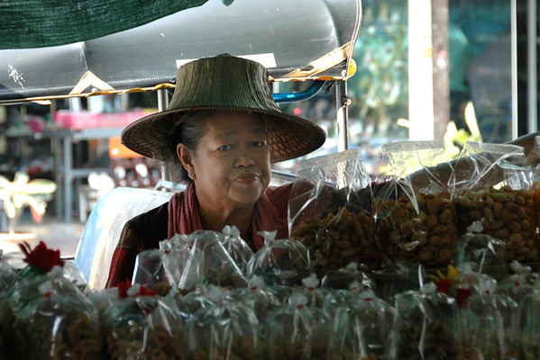Woman Selling Snacks - Bangkok, Thailand