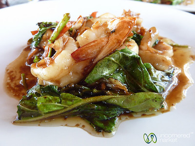 Thick Glass Noodles and Seafood Lunch - Koh Samui