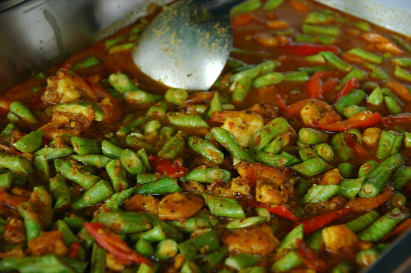 Shrimp and Long Beans Curry - Krabi, Thailand