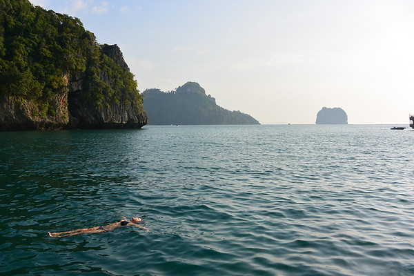 Floating in the Andaman Sea, January 2015