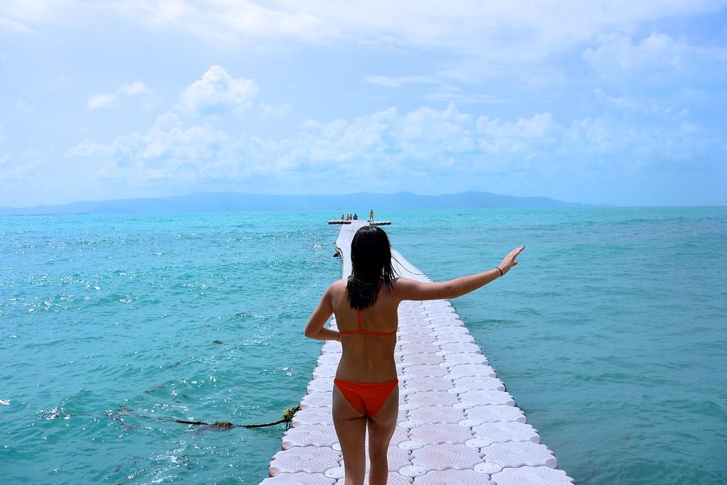 Floating deck off of Koh Pha Ngan. December 2015
