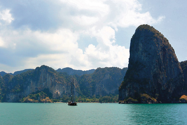 Boat view of Krabi. April 2015