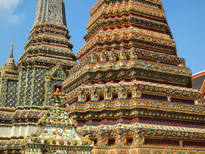 Temple details at Wat Pho in Bangkok