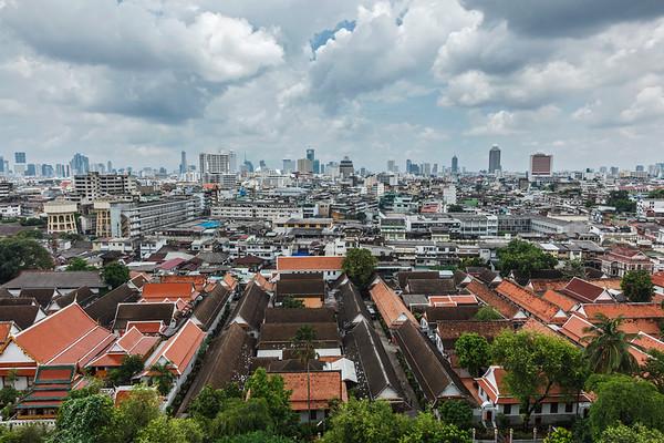 Aerial view of Bangkok. Bangkok, Thailand
