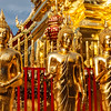 Buddha statues in Wat Phra That Doi Suthep, Chiang Mai, Thailand, Asia, Buddha, Buddhism, Buddhist, Buddhist temple, Chiang Mai, Thailand, Wat Phra That Doi Suthep, asian, gilded, god, gold, golden, in a line, in a row, lord, religion, religious building, row, sculpture, statuary, statue, temple, thai