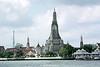 Wat Arun and Chao Phraya River, Bangkok, Thailand.