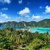 Panorama of tropical island