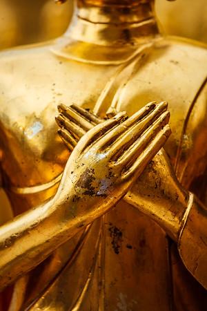 Buddha statue hand in Wat Phra That Doi Suthep, Chiang Mai, Thailand, Asia, Buddha, Buddhism, Buddhist, Buddhist temple, Chiang Mai, Thailand, Wat Phra That Doi Suthep, asian, gilded, god, gold, golden, lord, religion, religious building, sculpture, statuary, statue, temple, thai