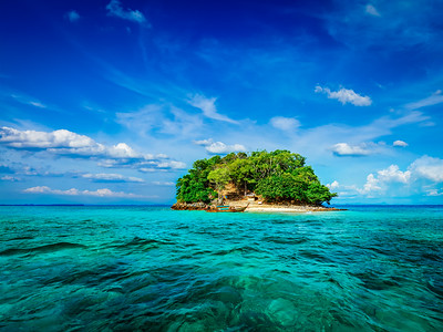 Tropical island in sea