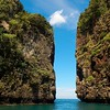 Limestone Outcrops / Islands<br /> Nui Bay, Phi Phi Is., Thailand