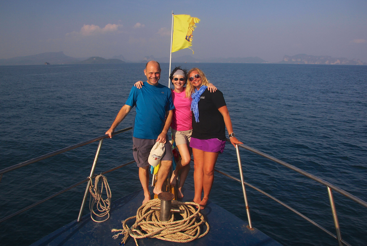 With our awesome dive master, Petra