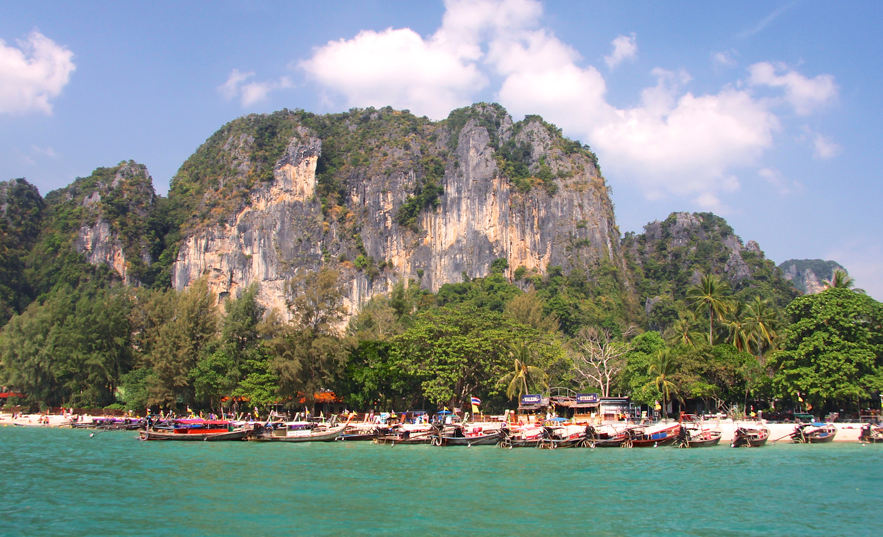 Krabi's fairytale limestone crags come to a dramatic climax at Railay!!