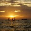 Beautiful sunset on Boracay island