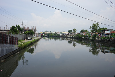 Slum river in Manila
