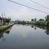 Slum river in Manila