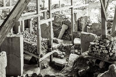 Circles of 20-ton massive T-shaped stone pillars dating back to 10,000 BC