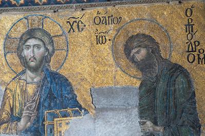 Religious fresco in Hagia Sophia - Istanbul, Turkey