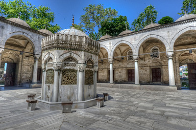 Mini temple inside Hagia Sophia complex - Istanbul, Turkey